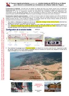 Travaux urgents prioritaires à moindre coût : solution testée par ARTELIA sur le littoral pour réduire la vulnérabilité aux inondations de la Basse Vallée de l'Argens