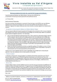 Courriel envoyé par Monsieur Jean-Michel Maurin, Directeur de la DDTM du Var, à l'association VIVA